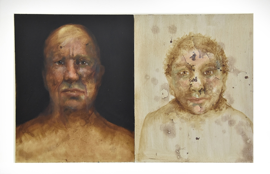Small Heads (diptych)b