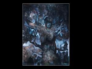 Kathryn Jacobi, Paintings, oil paintings oil on paper, imagined, Fresno Art Museum