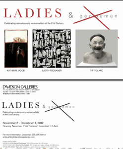 3 person show, opening Nov. 1, 2012